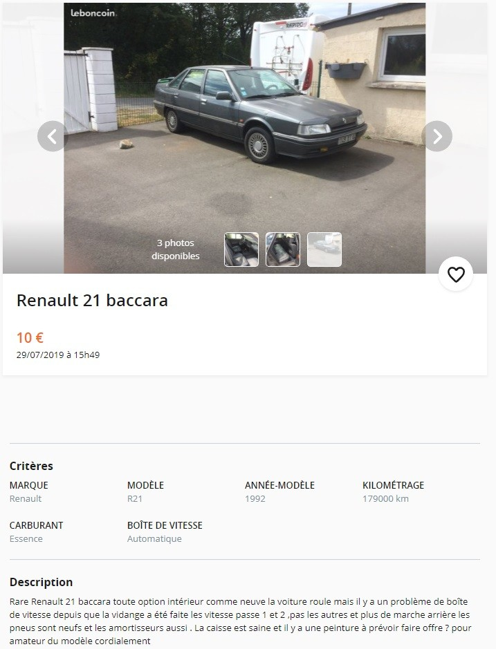 Annonce R21 Baccara 3