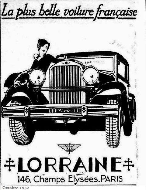 1932 lorraine voitures fran aises des ann es 1930 oldtimer. Black Bedroom Furniture Sets. Home Design Ideas