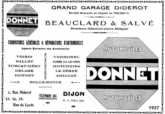 Rue diderot 1927 dijon garages anciens club for Garage le corre ceret
