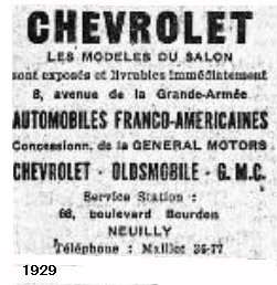 chevrolet neuilly paris ile de france garages anciens. Black Bedroom Furniture Sets. Home Design Ideas