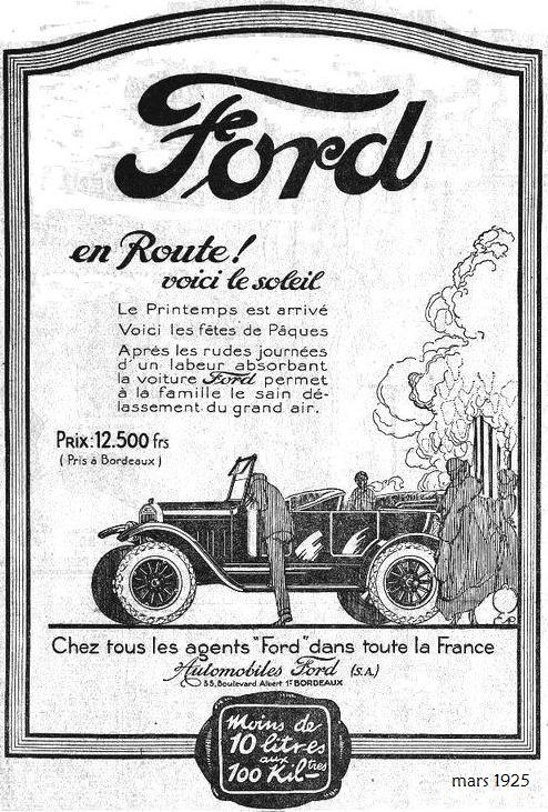 1925, Ford France, T