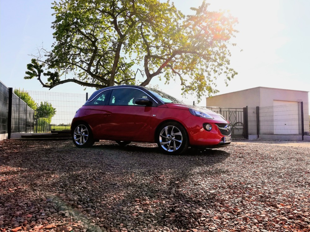 Photo Opel Adam plus un arbre