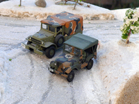 Jeep & Dodge 4x4 US Roco 1/87