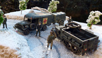 Dodge et Half-Track. US Army WW2 Roco 1/87