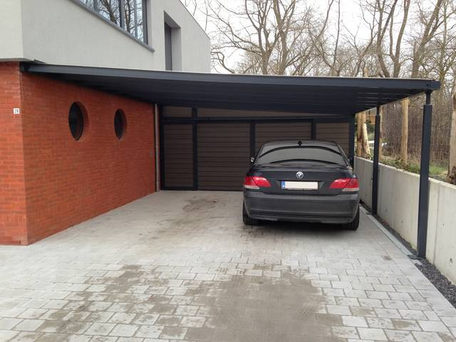 Carport barsac aangebouwd vlakdak wolny 640 thx thx29 photos club clu - Carport aluminium prix ...